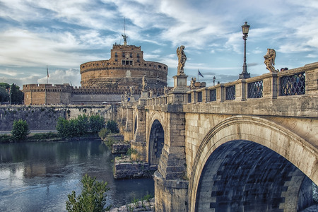 Castle Sant Angelo in Rome Editorial