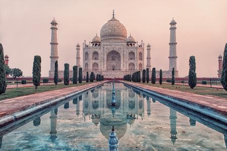 Taj Mahal in sunrise light, Agra, India Stock Photo