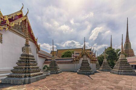 Wat Pho temple in Bangkok, Thailand Standard-Bild