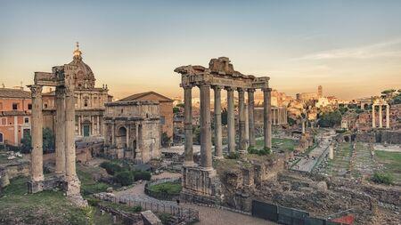 The Roman Forum in Rome Archivio Fotografico