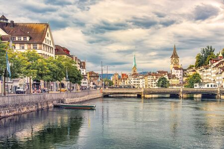 Zurich city in the daytime, Switzerland Archivio Fotografico