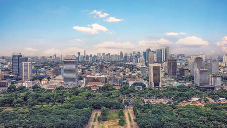Jakarta city panorama in the daytime Publikacyjne