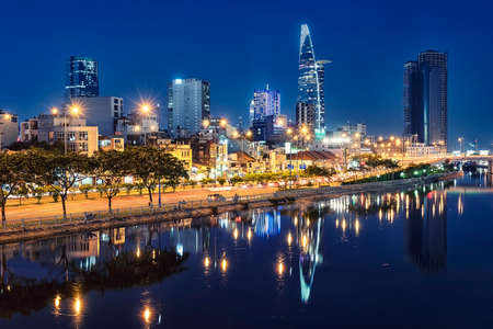Ho Chi Minh city in the evening