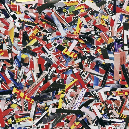 Cuts from magazines and flyers  Stock Photo - 12801650