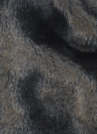 Dark artificial fur for texture or background photo