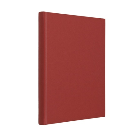 Standing closed red book in white background