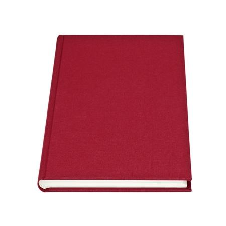 Blank livre rouge isol� sur fond blanc Banque d'images