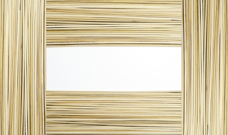 frame from wooden spits for food