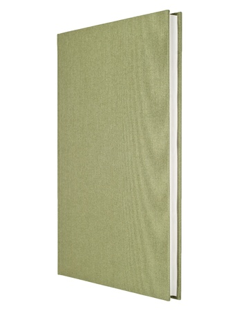 Gray-green book isolated on white photo