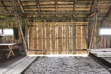 old barn: old barn  Stock Photo