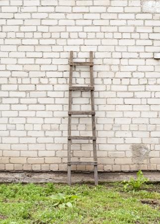 old, weathered brick wall  photo