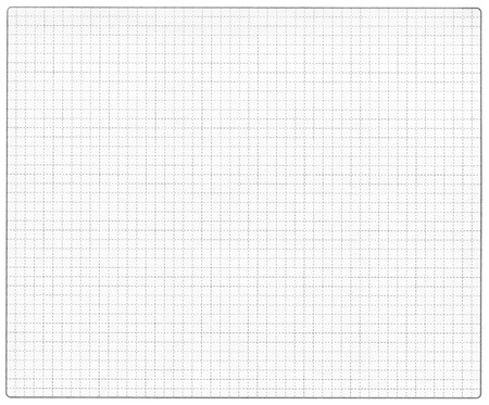 graph paper with rounded corners frame photo