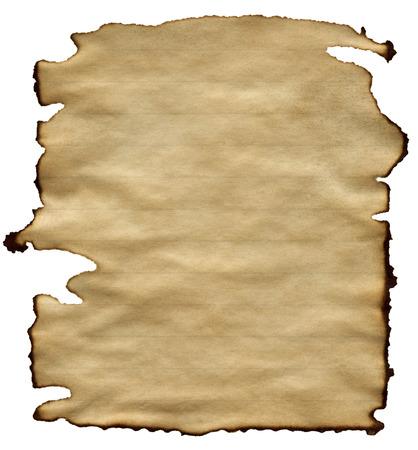 vieux papiers brun isol� sur fond blanc