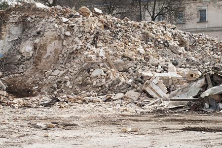 construction and demolition debris  at construction site Stock Photo