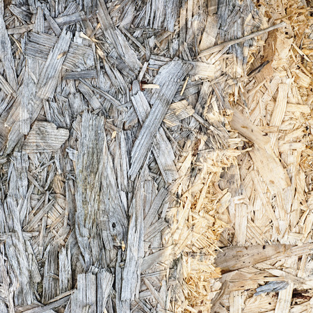 lagging: Wooden weathered grey pressed shavings natural background