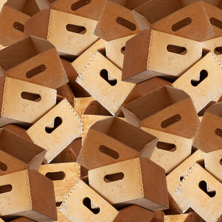 huge stack of wooden containers for holding file folders background photo