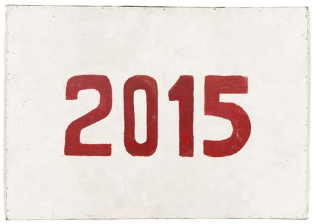 nouvelle ann�e 2015 peint sur planche de contreplaqu�, ann�e de la ch�vre