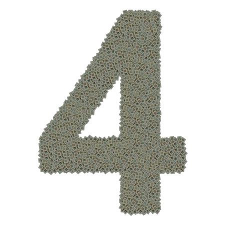 Num�ro 4 en �norme quantit� de microprocesseurs vieux et sale Banque d'images