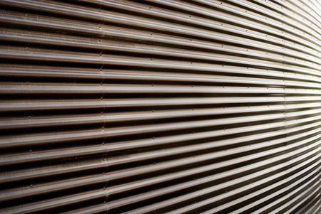 diminishing perspective: Covering of corrugated iron wall in diminishing perspective texture background