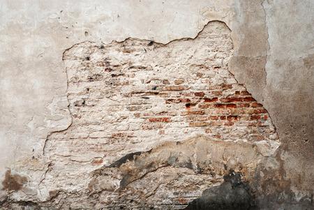 abandoned grunge cracked brick stucco wall background Banco de Imagens - 39537962