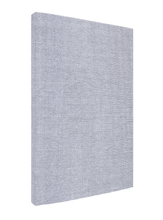 lexicon: Grey book with spine isolated on white background, fabric cover