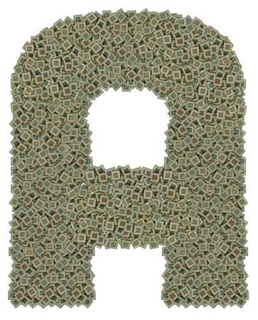 microprocesadores: letra A hecha de hechos de gran cantidad de microprocesadores viejos y sucios, aislado en fondo blanco