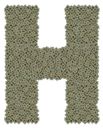 lettre H faite de �norme quantit� de microprocesseurs vieux et sale, isol� sur fond blanc Banque d'images