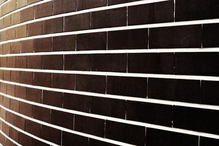 diminishing perspective: Grunge brick rick wall with diminishing perspective texture background Stock Photo