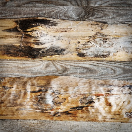 wall floor: Grunge brown wooden plank wall, floor background Stock Photo