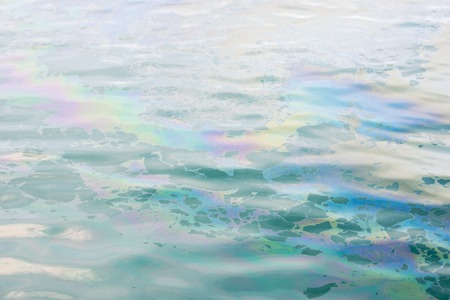 abstract colrful oil slick on the water background Stock Photo