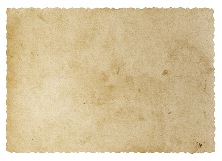 Vintage blank old paper photo isolated on white background Banco de Imagens