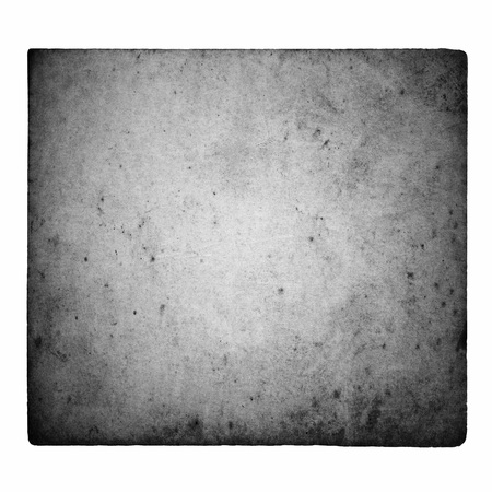 Black and white film frame with light leaks and grain isolated on white background