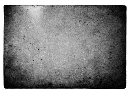 Cadre de film noir et blanc avec fuites de lumière et grain isolé sur fond blanc Banque d'images