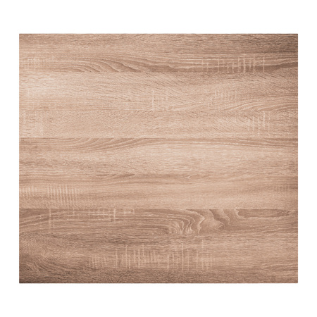 Brown wooden texture background isolated on white background. Top view.
