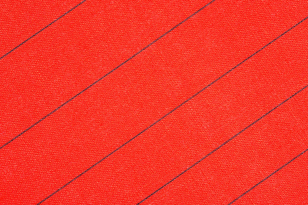 Abstract red fabric with black stripes texture background. Book cover 免版税图像