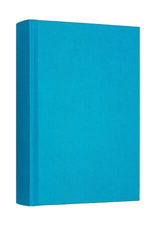 Thick blue book isolated on white background. Standard-Bild - 132486922