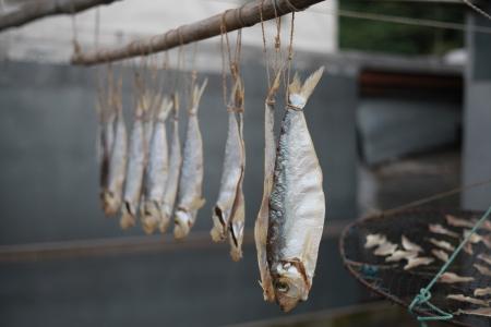 lantau: Salted fish of Tai O , Lantau Island Stock Photo