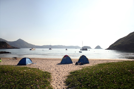 Camp Site at Sai Wan, Sai Kung photo