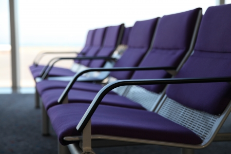 lounges: Purple chair in the airport