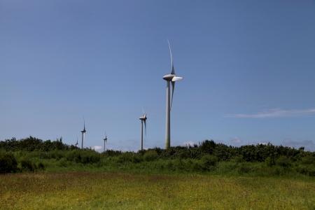energia eolica: La energ�a e�lica, Taiwan Foto de archivo