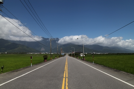 Road to Chishang Township, Taitung, Taiwan photo
