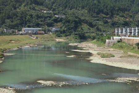 river county: Plum Lake River, of Baihou, Dabu County, Guangdong, China Stock Photo