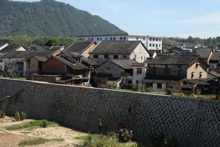 casa vecchia: The Old House di Baihou, Dabu County, Guangdong, Cina Archivio Fotografico