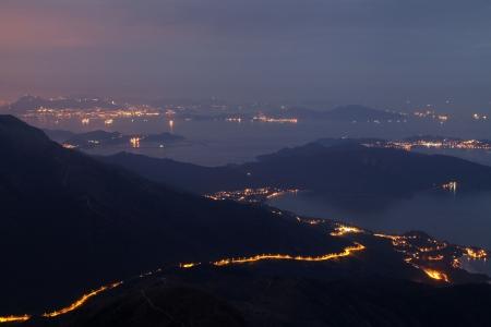 lantau: Lantau Peak at Sunrise view, Lantau Island, Hong Kong Stock Photo