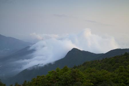 A sea of clouds at Tai Mo Shan, Hong Kong photo