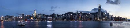 Panoramic view of Hong Kong Skyline