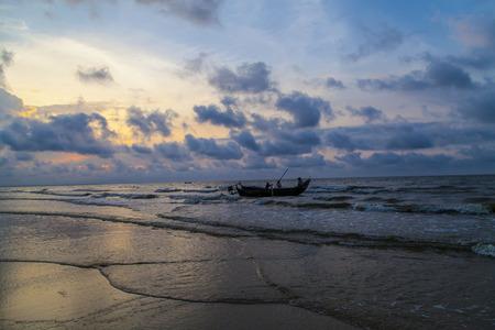 guangdong: Beach at Wuchuan, Guangdong Stock Photo