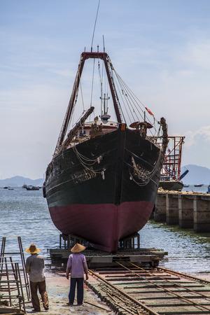guangdong: Shipyard at Yangjiang, Guangdong Editorial