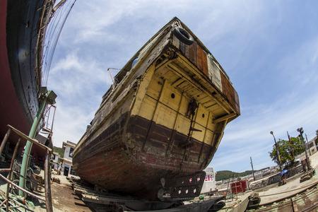 guangdong: Shipyard at Yangjiang, Guangdong Stock Photo