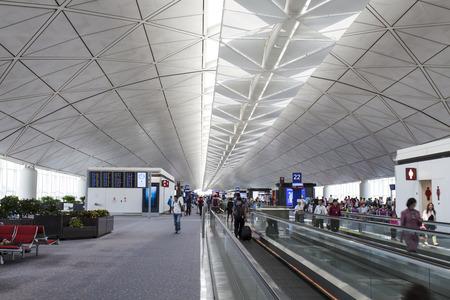 The Long Corridor at Hong Kong airport